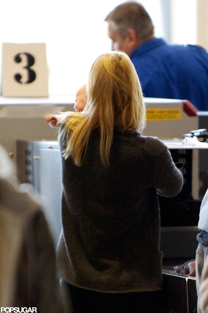Claire Danes had baby Cyrus Dancy in her arms at LAX.