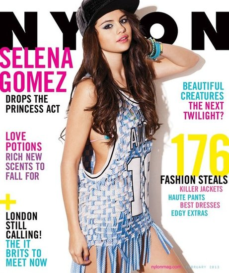 Selena Gomez covered the February issue of Nylon magazine.
