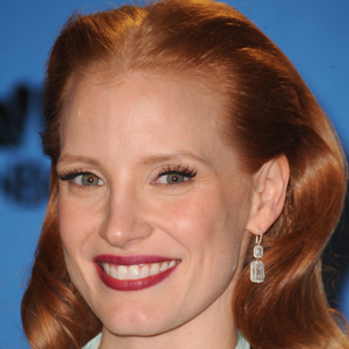 Jessica Chastain's Golden Globes Makeup