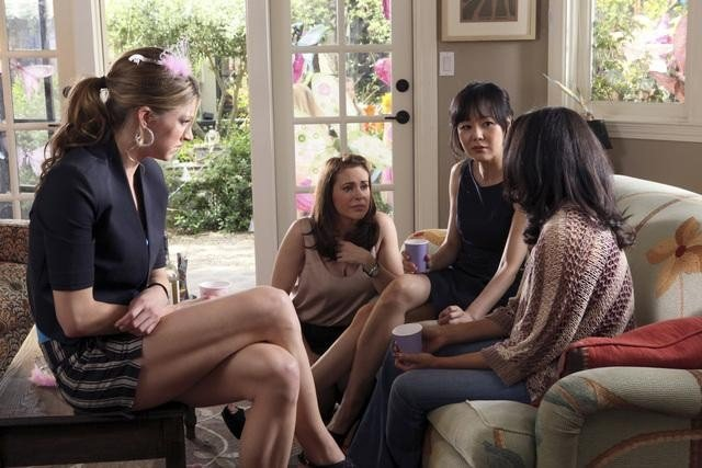 Alyssa Milano, Yunjin Kim, Rochelle Aytes, and Jes Macallan on Mistresses.