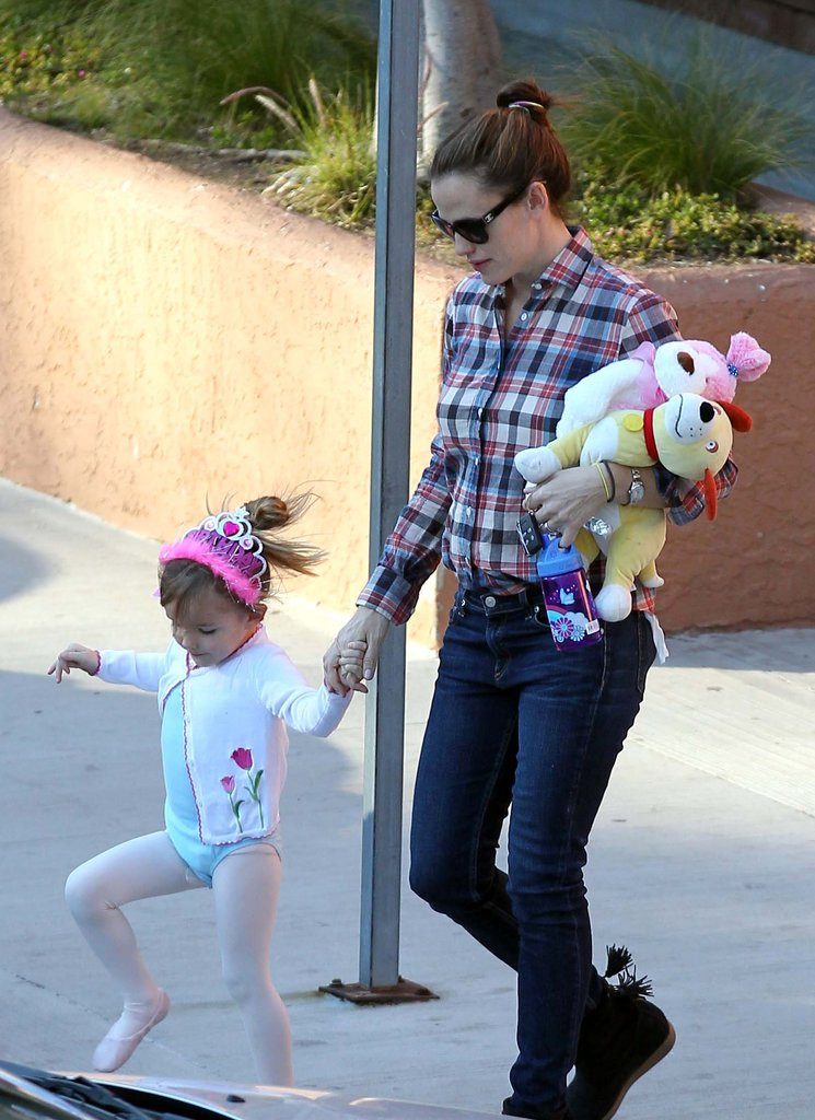 Jennifer Garner and Seraphina Affleck were hand in hand leaving ballet class in LA.