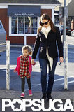Jennifer Garner took Seraphina's hand on the way to get a coffee in LA.