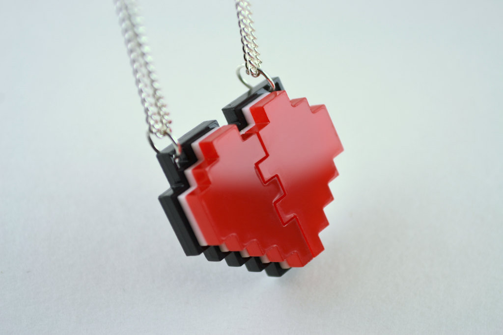 Pixel Heart Friendship Necklace ($20)