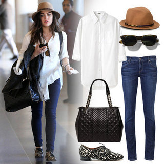 Lucy Hale's Outfit at LAX | Shopping