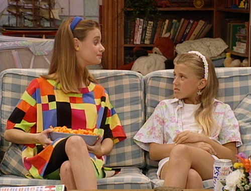 "Kimmy Gibbler: [Talking to DJ] ""Your sister is such a tattletale."" Steph: ""I am not, and I'm telling you said that."""