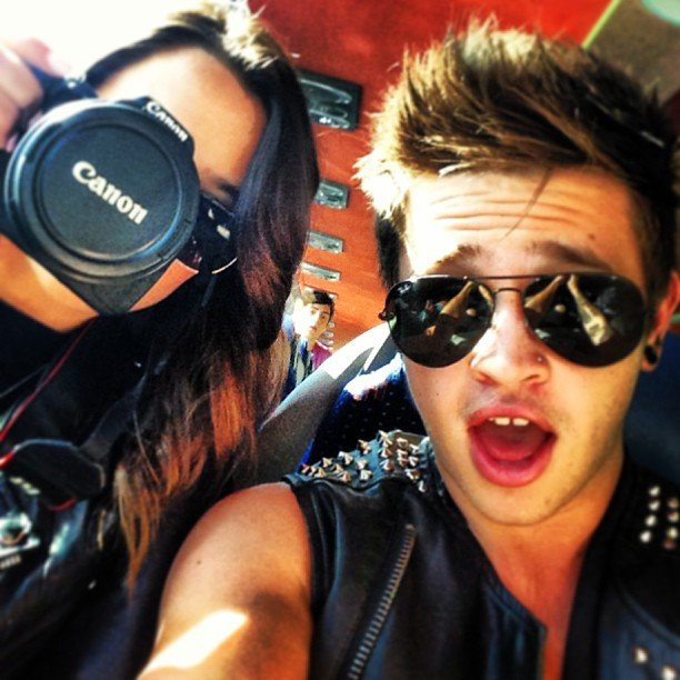 Rhiannon Fish is acting as Reece Mastin's personal photographer. Source: Instagram user reecemastinofficial