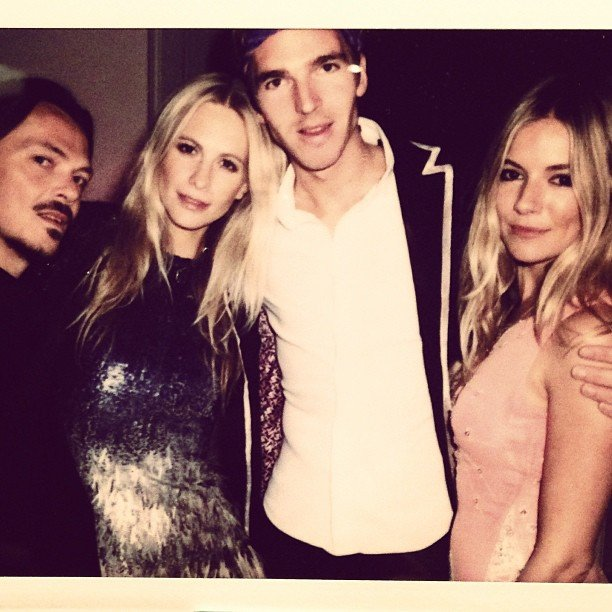 Poppy Delevingne posted this pic alongside a good-luck wish for her friend Sienna Miller during the Golden Globes. Source: Instagram user poppydelevingne