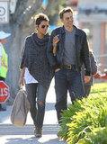 Halle Berry and Olivier Martinez went shopping together.