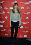 Jessica Biel paired an oatmeal sweater with black jeans and a pair of knee-high boots for the premiere of her new movie Emanuel and the Truth About Fishes.