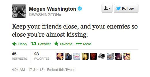 Wise words from Megan Washington.