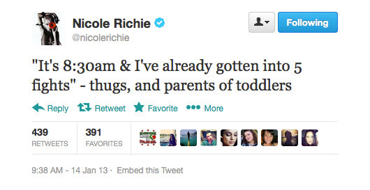 Nicole Richie takes parenting seriously.