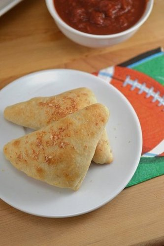 Cheesy Pizza Pockets - Skinny Super Bowl Snacks!