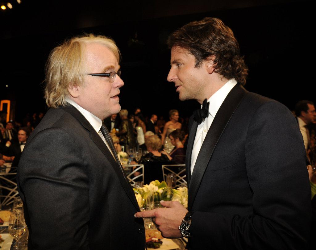 Philip Seymour Hoffman and Bradley Cooper
