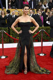 Morena Baccarin showed off her legs in the red carpet.