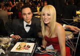 Kaley Cuoco and Jim Parsons shared a laugh over dinner.