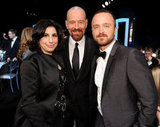 Breaking Bad's Bryan Cranston and Aaron Paul posed with Warner Brothers exec Sue Kroll.