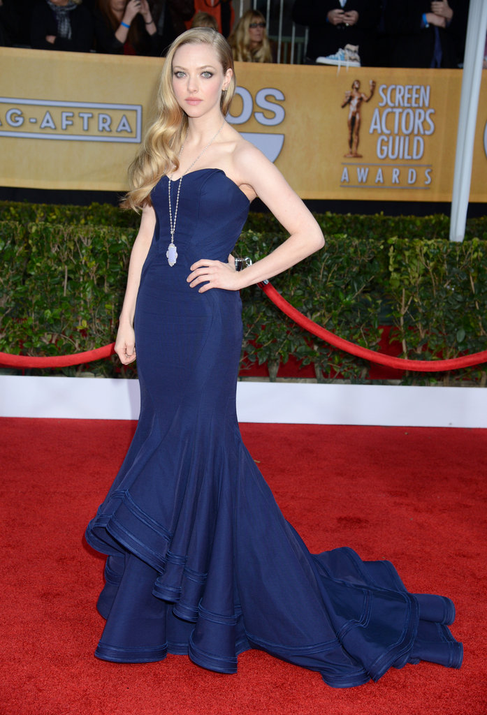 Amanda Seyfried dazzled in a Zac Posen gown.