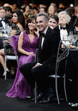 Sally Field and her Lincoln costar Daniel Day-Lewis laughed during the show.