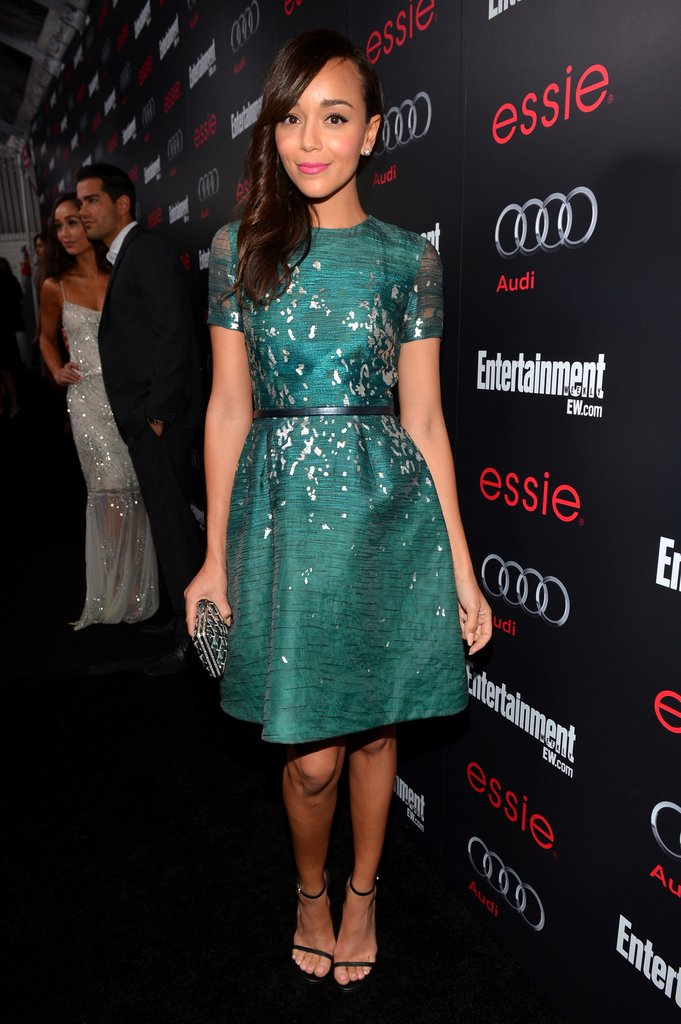 Ashley Madekwe wore a Monique Lhullier dress and Kara Ackerman jewelry to Entertainment Weekly Pre-SAG Party in LA.