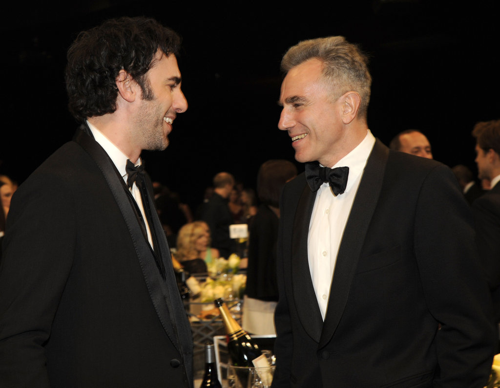 Sacha Baron Cohen and Daniel Day-Lewis chatted.