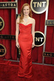 Jessica Chastain looked radiant in red at the SAG Awards.
