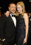 Nicole Kidman posed with pal Russell Crowe inside the SAG Awards.