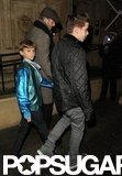 David Beckham, Brooklyn Beckham, and Romeo Beckham attended a performance of Kooza by Cirque du Soleil.