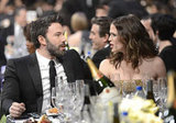 Ben Affleck and Jennifer Garner talked over dinner and drinks at the 2013 SAG Awards.