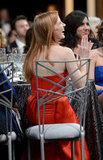 Jessica Chastain cracked up in her seat.