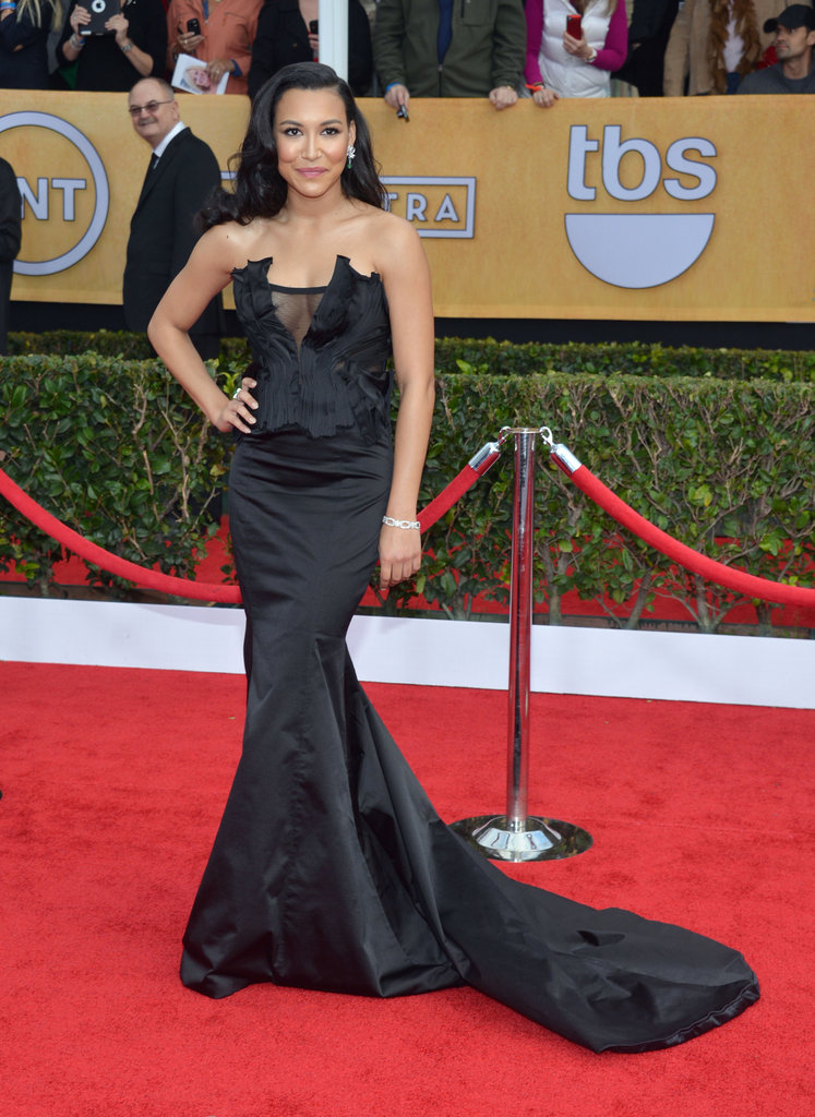 Naya Rivera's Donna Karan Atelier gown sported a sexy cutout and dramatic train.