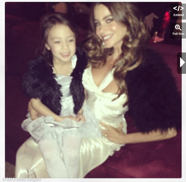 Sofia donned fur at the afterparty. Source: WhoSay user Sofiavergara