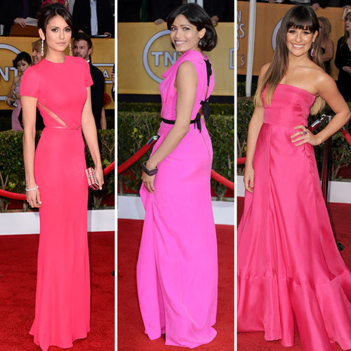 Red Carpet Colour Trend at 2013 SAG Awards: Hot Pink!