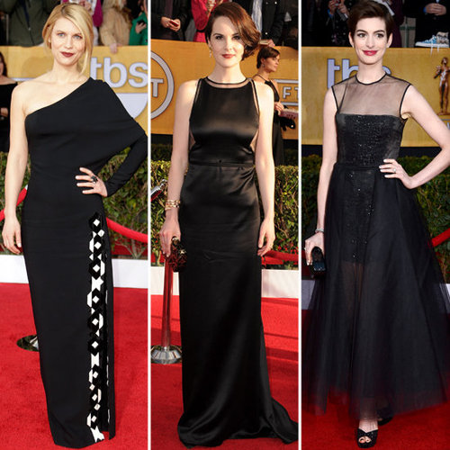 SAG Awards 2013 Red Carpet Black Dress Trend