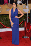 Jordin Sparks opted for an electric blue number for her SAGs outting.
