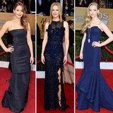 SAG Awards 2013 Red Carpet Navy Dresses Trend