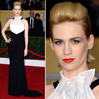 January Jones: SAG Awards Red Carpet Dresses 2013