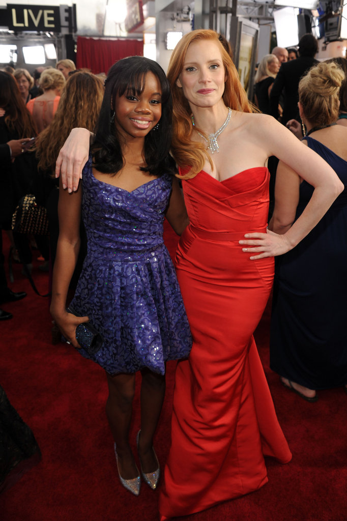 Gabrielle Douglas and Jessica Chastain