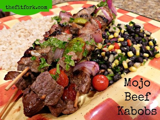 Mojo Beef Kabobs  - The Fit Fork