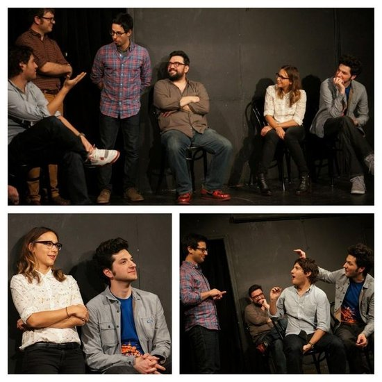 Ben Schwartz got Rashida Jones to do improv live for the first time. Source: Twitter user iamrashidajones
