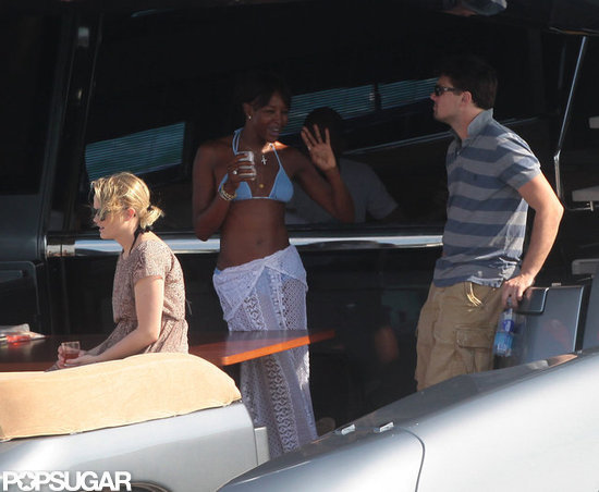 Leo DiCaprio Hangs With a Bikini-Clad Naomi Campbell on a Yacht