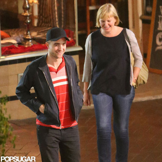 Robert Pattinson had a smile on his face while out in Adelaide, Australia.