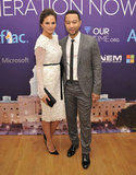 John Legend and fiancé Chrissy Teigen stopped by the Inaugural Youth Ball during the event-filled, political weekend.