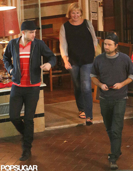 Robert Pattinson hung out with friends in Adelaide, Australia.