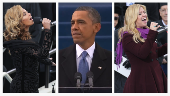 Video: Beyoncé, Kelly Clarkson, and Katy Perry Celebrate Obama's Inauguration!