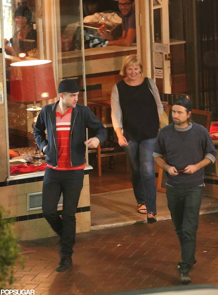 Robert Pattinson was accompanied by friends in Adelaide, Australia.