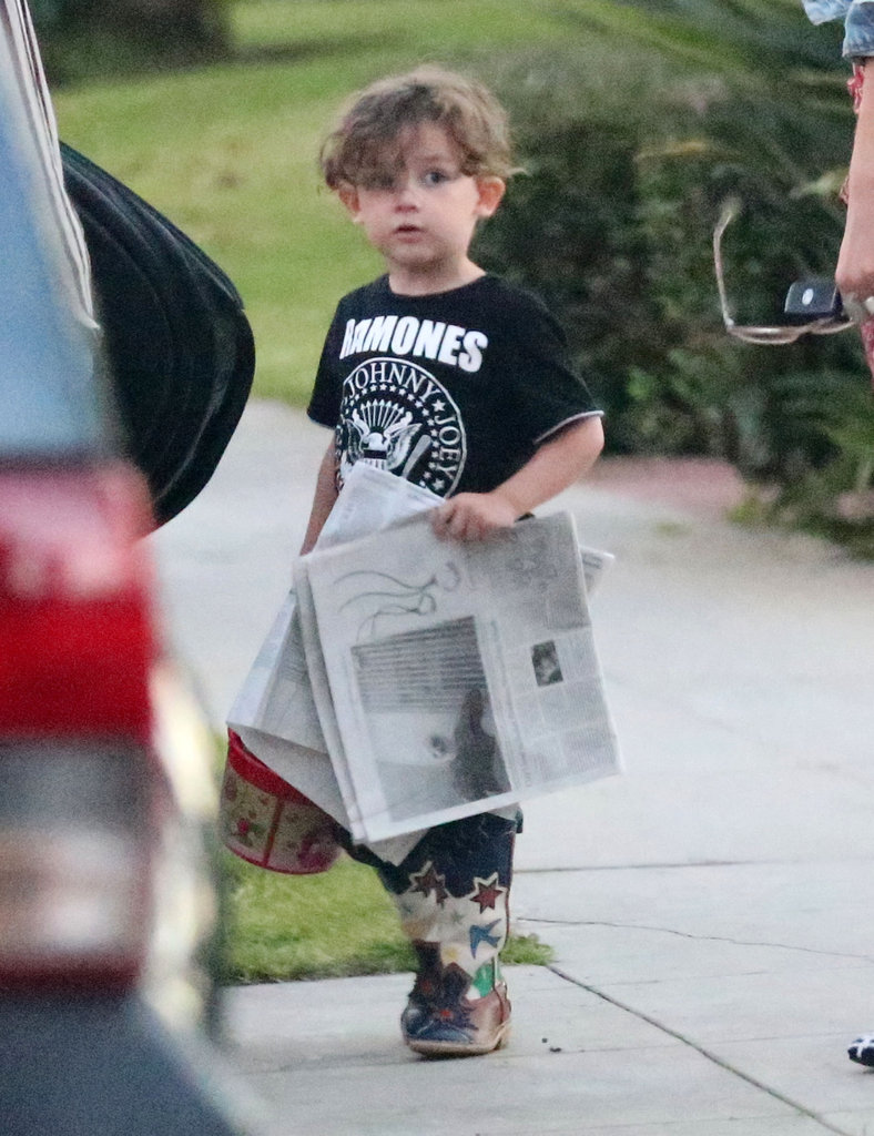 Sparrow Madden got the morning paper at the Beverly Hilton Hotel.