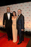 Eva Longoria posed with guests at the Latino Inaugural celebration Sunday evening.