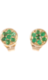 Swap out your signature gold studs for something with pep, like these Jennifer Meyer Emerald Circle Stud Earrings ($975).