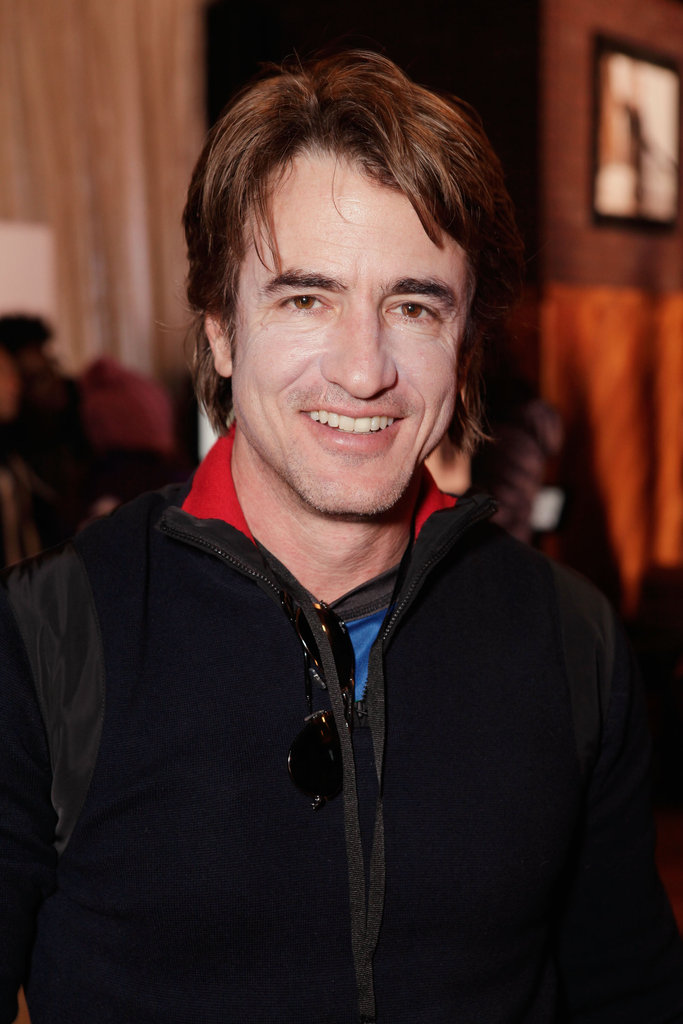 Dermot Mulroney flashed a happy grin.