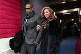 Jay-Z and Beyoncé arrived at the presidential inauguration.